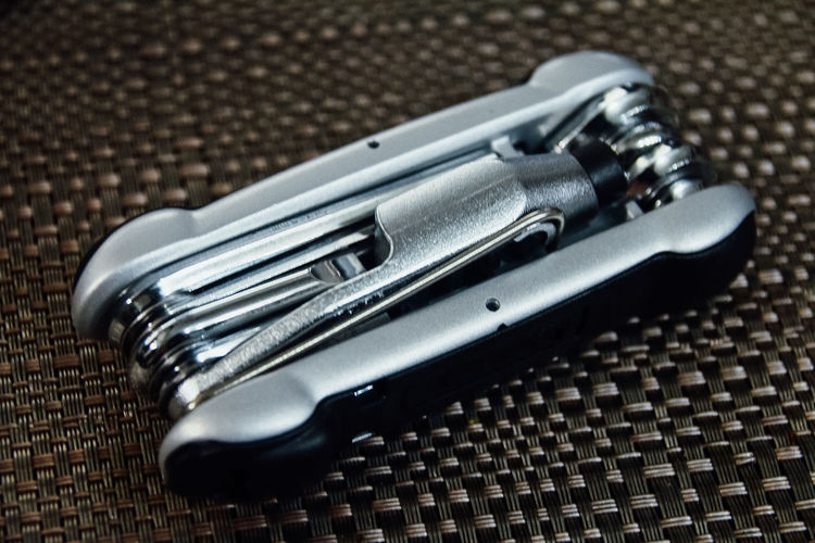 Close-up of multi utility knife