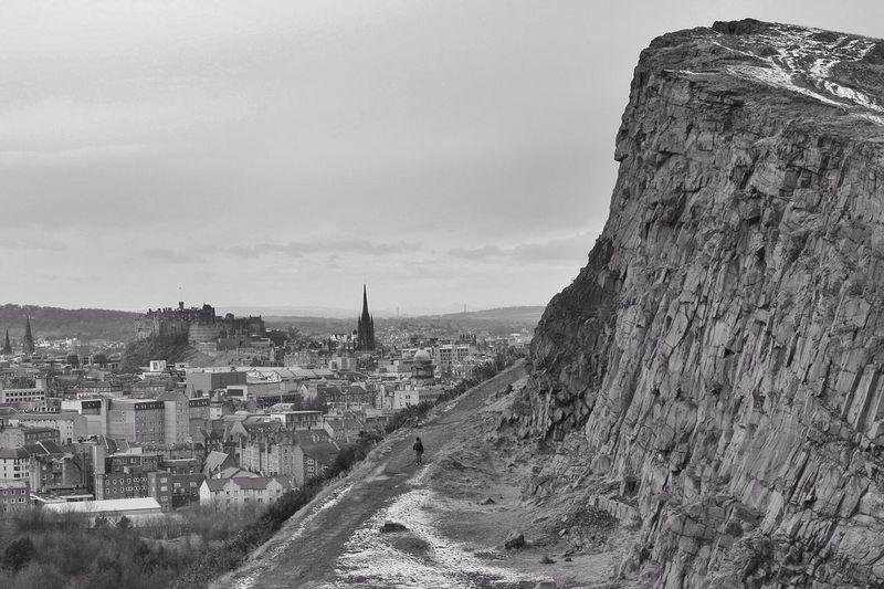 A winter walk along the crags. Edinburgh Blackandwhite Eye4black&white  Shootermag