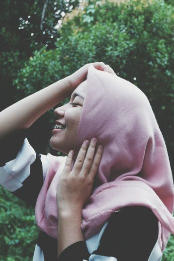 People Only Women Human Body Part Outdoors Smiling Women Nature Close-up Tree Young Women Day Hijabstyle