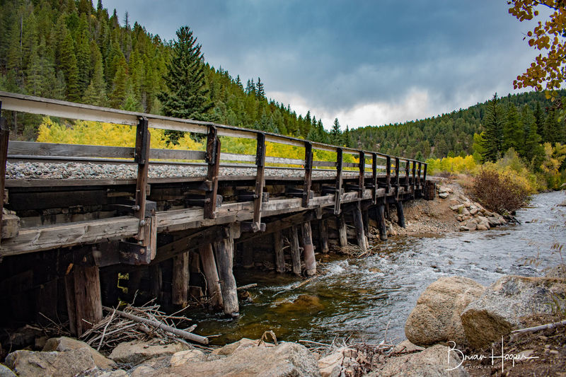 Colorado Colorado Photography Fall Colors Beauty In Nature Bridge Cloud - Sky Day Forest Landscape Mountain Nature No People Outdoors Rail Transportation Railroad River Scenics Sky Tranquility Tree Water