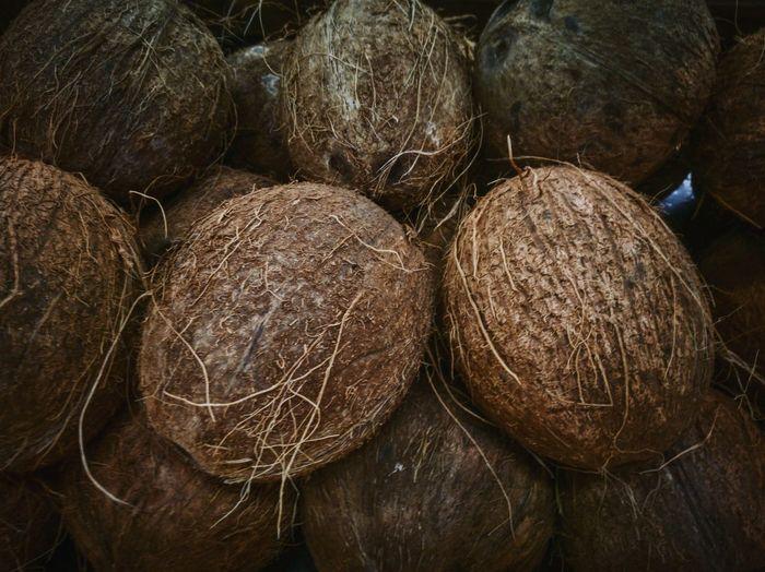 Full frame shot of coconut for sale