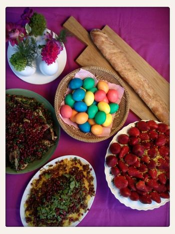 Happy easter Colours Easter Eggs Happy Easter Vegan Thx4cooking  Oriental Food
