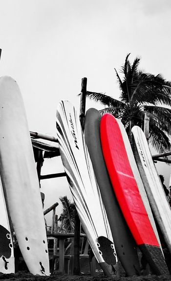 Red Outdoors Day No People Sky Summer ☀ Summer Memories 🌄 Surfboard Outdoors❤ Fun And Sun Happy Place♥ Surf Time Seaside_collection Sea And Surf