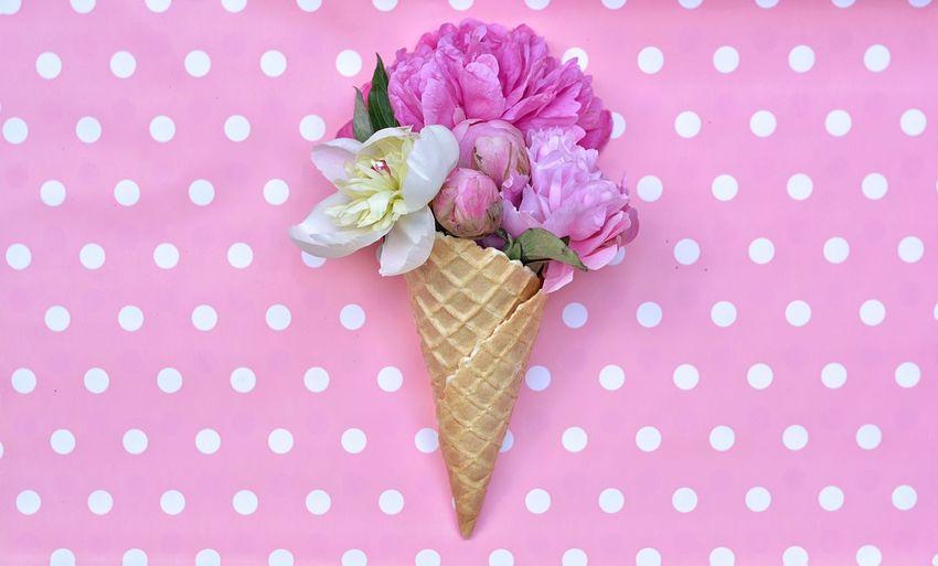 Ice Cream Flowers Flower Peonie Design Summer Summertime Pink Colorful