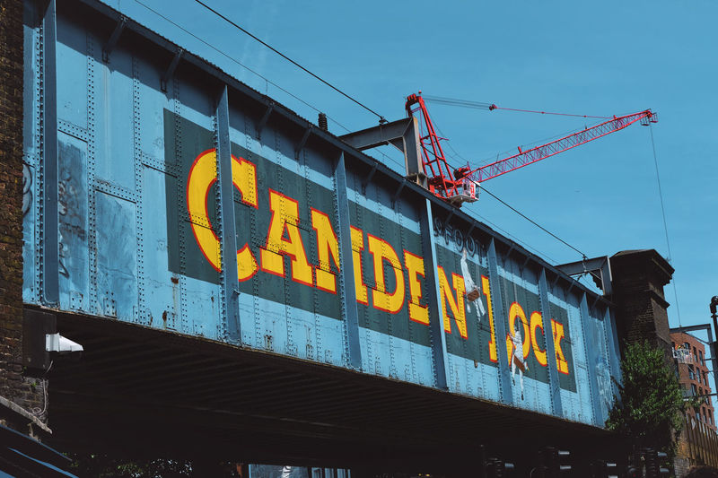 Camden lock Market Streetphotography Blue Yellow Communication Text Sky Architecture Sign