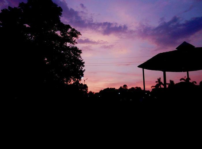 Evening Sky Silvette Allahabad,