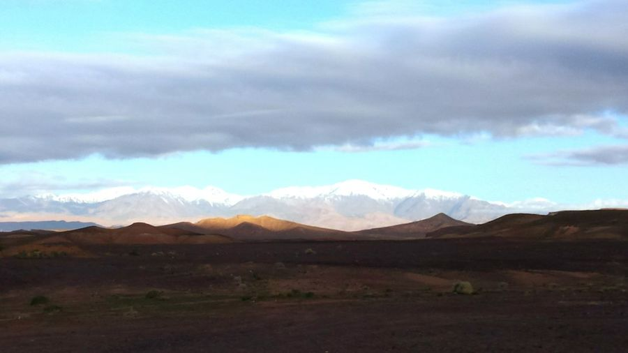 Morocco From A Bus Window The Traveler - 2015 EyeEm Awards Contrasting Colors Contrasting Landscape Desert And Snowy Mountains Landscape_Collection Gopro Clouds And Sky Samsung Galaxy S4
