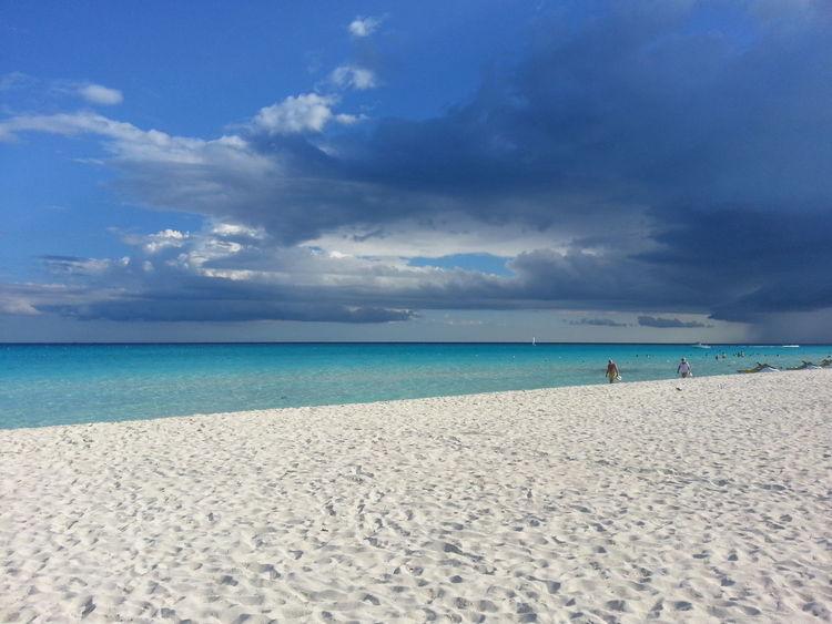 Beach Cloud Cloudy Horizon Over Water Mexico Nature Playa Del Carmen Playadelcarmen Riviera Maya Scenics Sea Sky Water