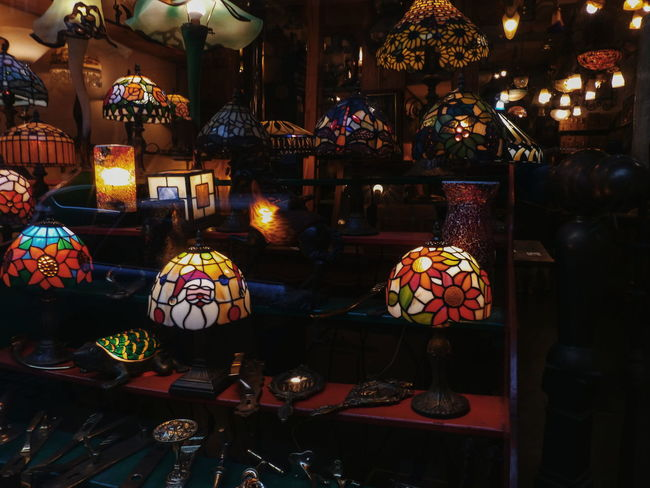 EyeEm Best Shots EyeEm Selects EyeEm Gallery Eye4photography  EyeEmBestPics Eyeem Market Light Tiffany Lamp Art Decoration Antiquity Brussels Colorful City Multi Colored Lantern For Sale Fairy Lights Market Shop Street Market