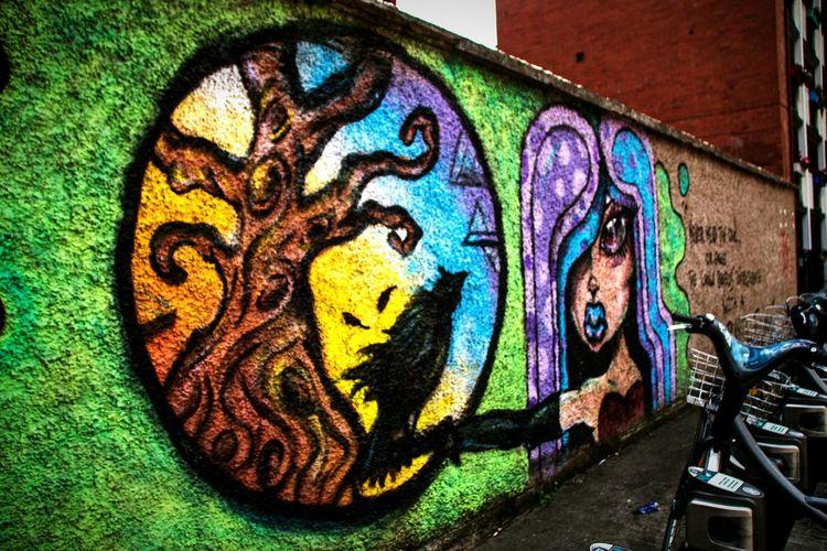 Colour Of Life Street Art Graffiti Graffiti Wall Ireland Dublin Street Photography Dublin Dublin City Magic The Magic Mission