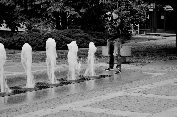 Artist In Action Blackandwhite Concentration Calm Water Photographer Outdoors Nature Day Water