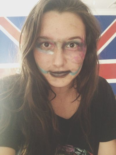 my host sister did my make up..
