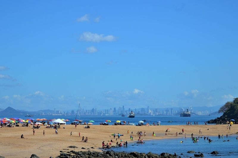 Panamá Chaos Where's Waldo? Ship Beach Large Group Of People Sand Sea Sky Summer Blue Vacations Outdoors This Is Latin America