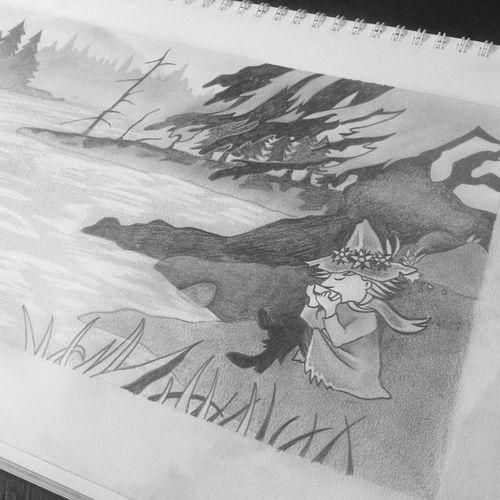Drawing Sketch Nuuskamuikkunen