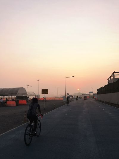 Sky Entrance Sky Lane Bicycle Track Morning Morning Ride  Cycling Cyclist Road ThaiLocal Thailand 23.5 Km Per Round