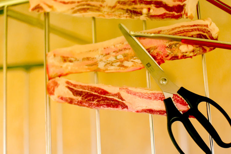 Pork Drying Clothes Drying Rack Hanging Out Testing Unfamiliar Food SLICE