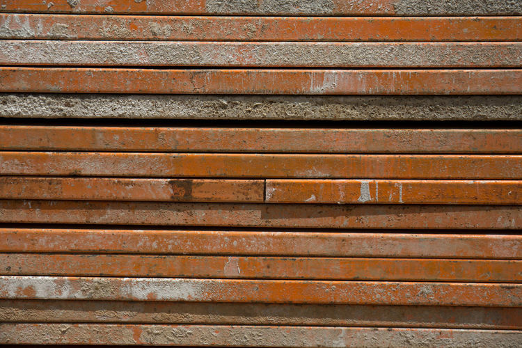Construction Equipment Backgrounds Full Frame Pattern Textured  Metal Shutter Wood - Material No People Architecture In A Row Close-up Weathered Brown Old Wall - Building Feature Dirty Dirt Wood Closed Repetition Iron Silver Colored Wood Grain