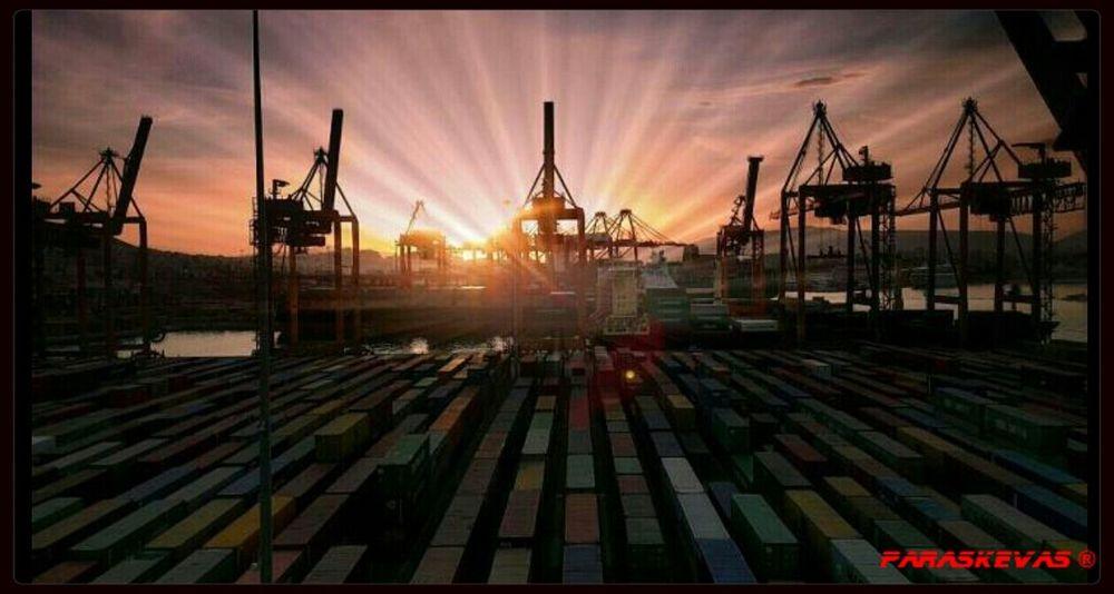 Cranes Piraeus Container Crane Ships Art Is Everywhere