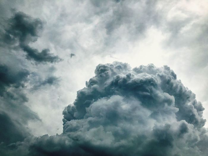Cloudy sky Cloud - Sky Sky Cloudscape Nature Low Angle View Beauty In Nature Weather Day Tranquility No People Backgrounds Sky Only Scenics Outdoors