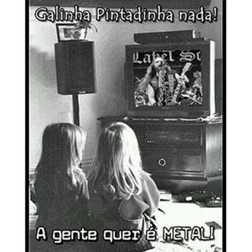 Crianças do Metal Heavymetal HeadBanger Criançasdometal Curtindoummetal blacklabelsociety galinhapintadinhaquenada agentequermetal