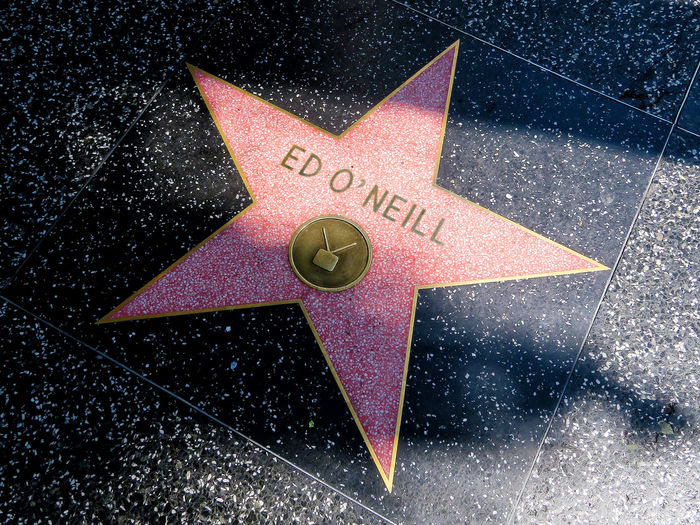 Walk of Fame - Hollywood America Bundy California Celebrities Close-up Ed O'Neill Fame Famous People Hollywood Married With Children Star - Space Tv Star  Walk Of Fame