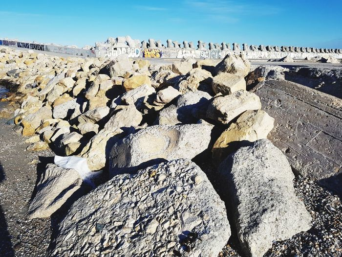 Stones Stones Sandstone Outdoors Photograpghy  Beach Sky Sand Day Outdoors Sea Sunlight Nature No People