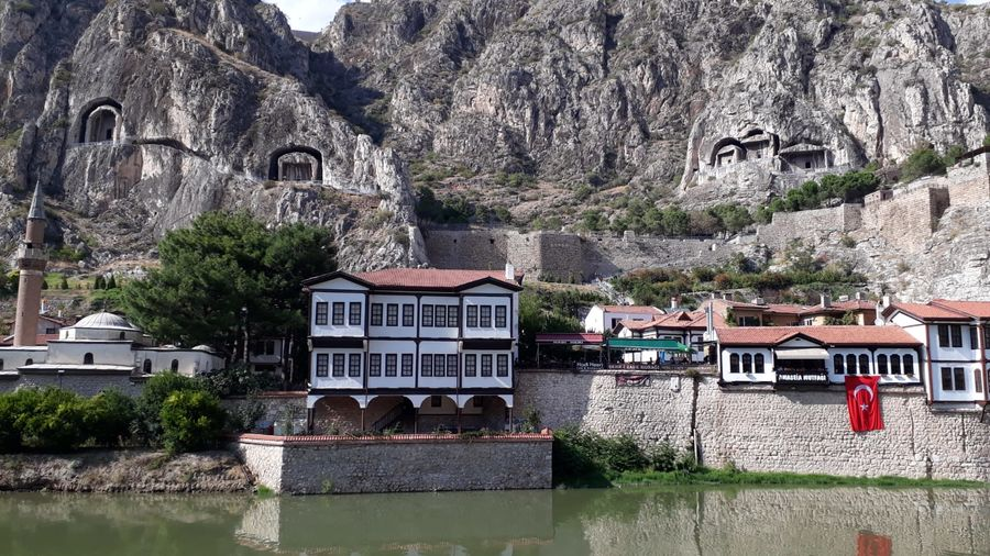 Turkey's historic sights of the city of Amasya Amasya Historic Homes Nature Turkey Culture Hill History House Landscapes Mountain River