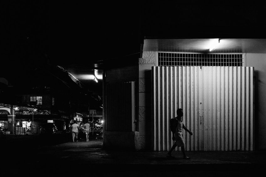 B&w Black And White Everybodystreet EyeEm Lucena Eyeem Philippines Illuminated Light And Shadow Night Night Photography People People And Places Philippines Street Street Life Street Photography Streetphoto_bw Streetphotography The Street Photographer - 2017 EyeEm Awards Black And White Friday