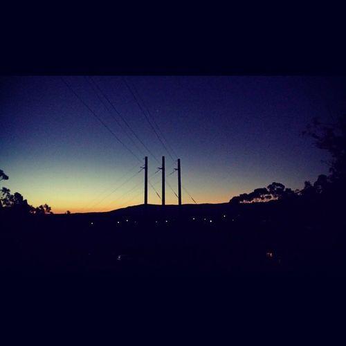 Sunset over the Shoalhaven Nowra Climbing Alldayeveryday