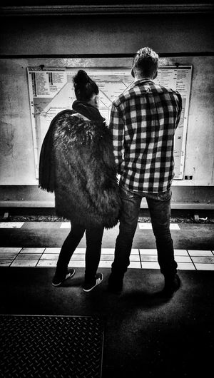 lost in Berlin Black And White People Subway