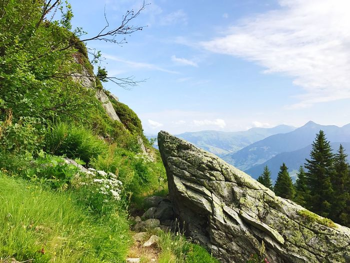 France Alps Path Hiking Trail Rock - Object Adventure Nature Mountain Hiking Challenge Sky Peak Beauty In Nature Outdoors No People Day