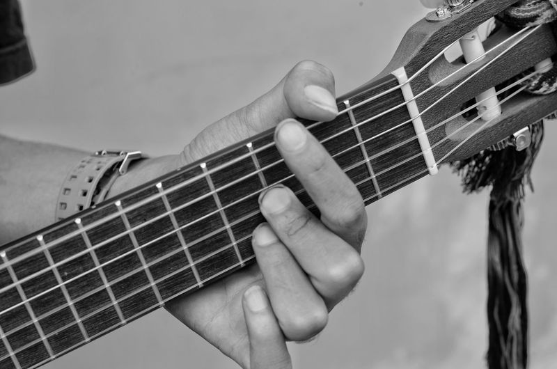 Music Musical Instrument Guitar Arts Culture And Entertainment Musical Instrument String Fretboard Musician Playing String Instrument Classical Guitar Acoustic Guitar Plucking An Instrument Human Hand Woodwind Instrument Human Body Part Bass Guitar Electric Guitar People One Man Only Adult