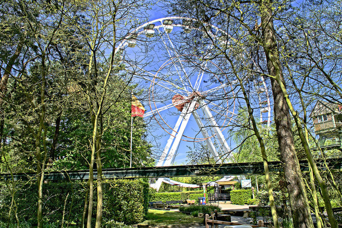 Day Famous Place Green Color Growth Mode Of Transport Nature Outdoors Riesenrad Sky Tourism Tranquil Scene Transportation Travel Destinations Tree