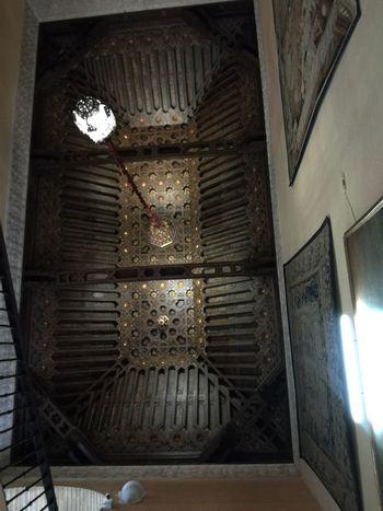 Sevilla Spain Miarma Palacio De Dueñas Creative Space City Illuminated Ceiling Architecture Built Structure Cupola