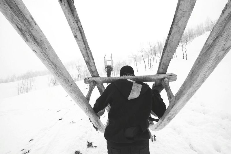 Snow ❄ Snow Winter People_bw Peoplephotography Dark Photography Monochromatic Black & White Blackandwhite Photography Blackandwhite