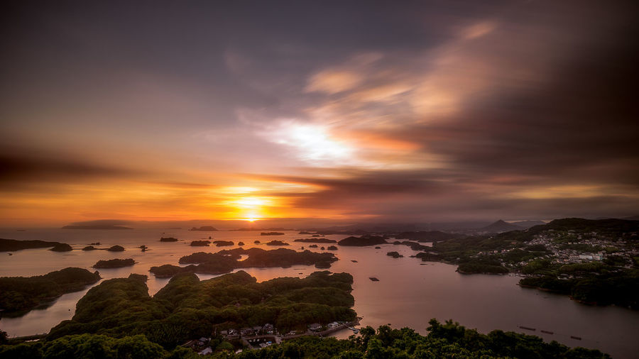 sasebo Beauty In Nature Cloud - Sky Day Nature No People Outdoors Scenics Sky Sunset Tranquil Scene Tranquility Tree Water