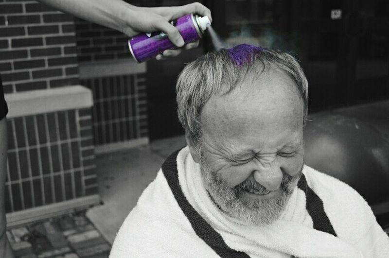 Coach A Bet Spraypaint Pain Purple Portrait Let Your Hair Down The Portraitist - 2016 EyeEm Awards