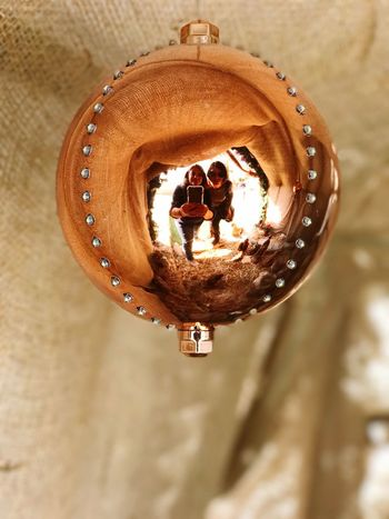 Hanging Low Angle View Close-up Bell Indoors  Day Diya - Oil Lamp Selfie ✌ Christmas Lights Christmas Decoration מייחגים מייאייפון7