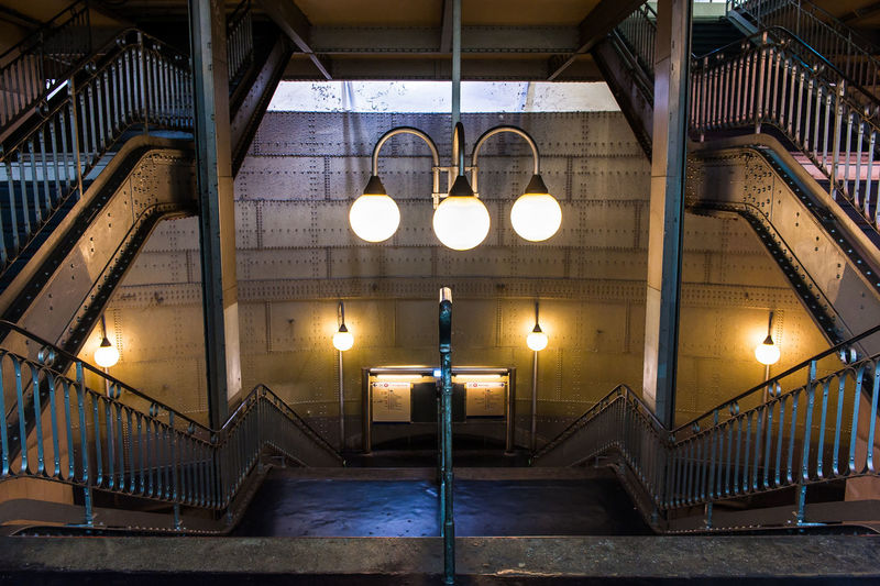 Architectural Column Architecture Built Structure Electric Lamp Electric Light Empty Glowing Illuminated Lamp Lighting Equipment Lit Metro Station, No People Stairs