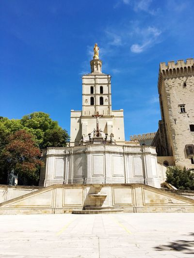 Built Structure Religion Architecture Building Exterior Place Of Worship Spirituality Sky Outdoors Low Angle View No People Day Tree France Avignon City Church Gold Architecture Old Old Buildings EyeEm Best Shots Tourist Tourism Travel Traveling