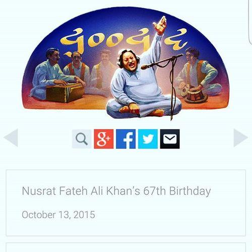 Happy birthday Khan sahab. You'll forever be missed Googledoodle NFAk Pakistanilegend Music