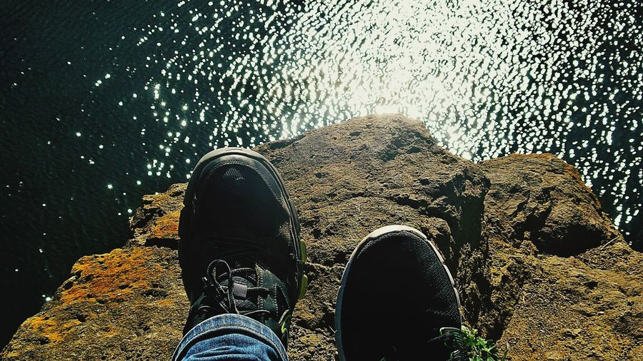 Close To The Edge Resting After A Long Walk Sitting High On Rocks Over The Water... My Son And Me I Don't Like Selfies Just Feet High Over The Lake Sparkling Water Green Lakes Nature near Frankfurt Am Main Germany🇩🇪 Up Close Street Photography Telling Stories Differently Two Is Better Than One Dramatic Angles Been There. Done That. Connected By Travel