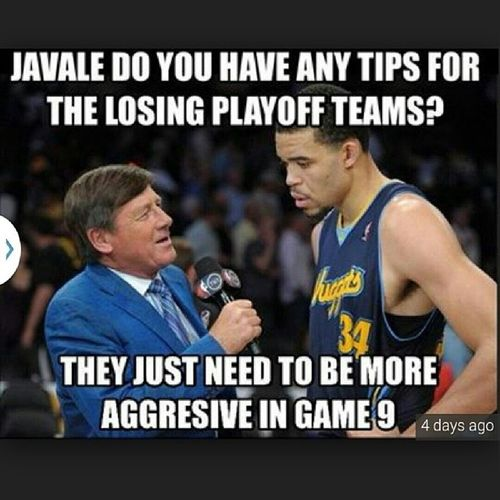 Let's take a break from this Donald Sterling bullshit and enjoy Javale ShaqtinAFool lmfaoooo Game9