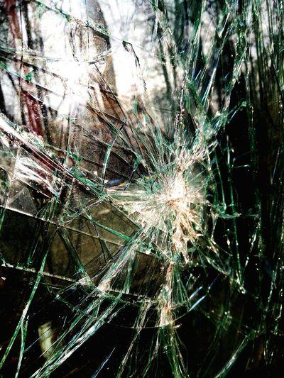 No People Web Glass Debris Broken Glass