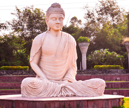 STATUE OF LORD BUDDHA IN SITTING POSE Lord Buddha Religious  Buddhism Buddha Image Religion Religion Architecture God's Beauty Sculptor Architecture Arts Culture And Entertainment Art And Craft Image Buddha Image In Morning Sunrise Statue Of Buddha Budhism Sprituality Tibetian Tibbets Monastery Of Stone