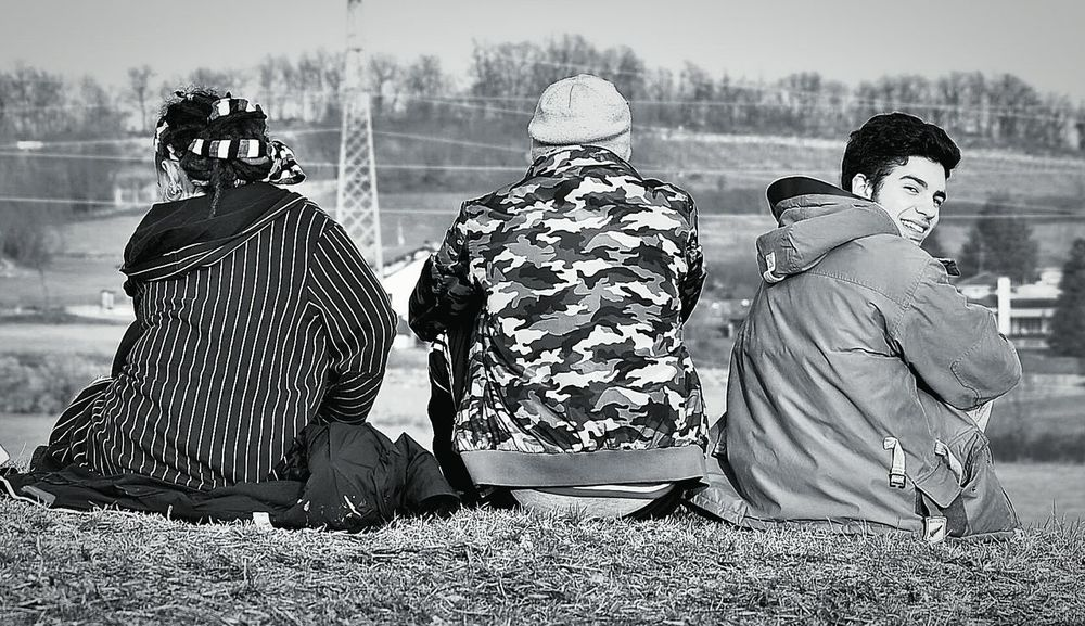 Togetherness People Young Adult Day Outdoors Tree Friendship Rear View Blackandwhite Blackandwhite Photography Good Place Good Day Goodvibes Good Things Come In Small Packages With Lightcase Good Time Friends Traditional Clothing Adult Adults Only Men Only Men First Eyeem Photo
