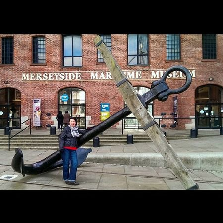 What A Massive Anchor........I Said ANCHOR!!! Liverpool AlbertDocks Mywife Anchor museum maritime