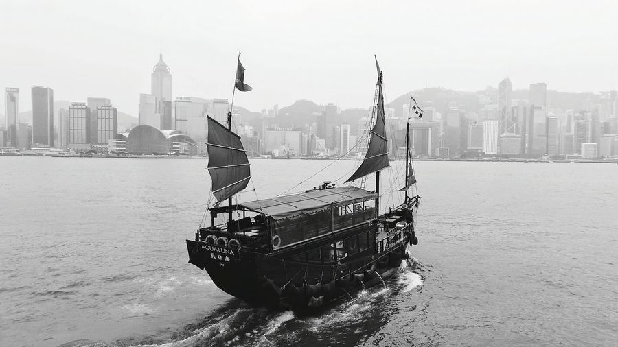 Hongkong Photos Hong Kong Junk Hong Kong Harbour I Love Hong Kong Blackandwhite Photography Monochrome HongKong Hong Kong Victoria Harbour Hong Kong Skyline