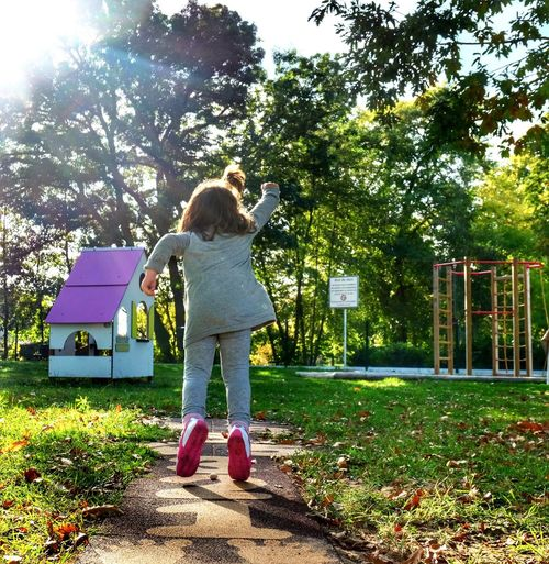 Supergirl Full Length Child Childhood Girls Outdoors One Girl Only Tree People Standing Real People One Person Togetherness Day Nature Playing Playground Hopscotch SuperGirl! ✌ Eye4photography  EyeEm Best Shots Photooftheday Supergirl Daughter Autumn Colors Leisure Activity