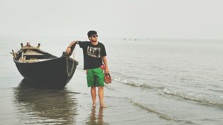 Beach Transportation One Person Fishing Net Full Length Standing Nautical Vessel Adults Only Outdoors Fisherman One Woman Only Sea Day People Adult Water